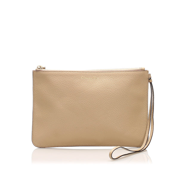 Brown Dior Leather Pouch