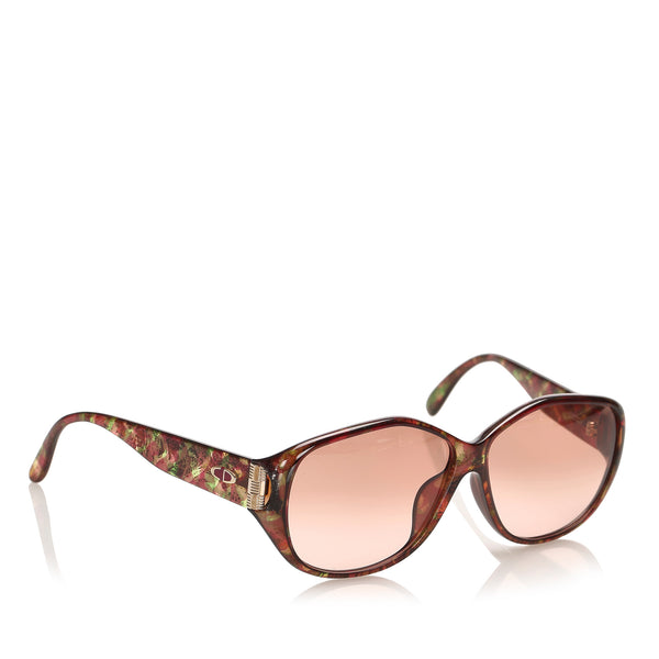 Brown Dior Round Tinted Sunglasses