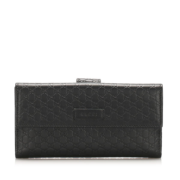Red Gucci Microguccissima Long Wallet
