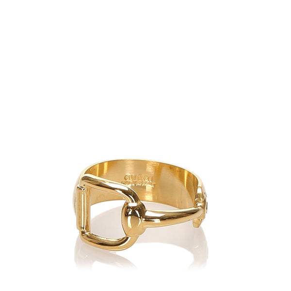 Gold Gucci Gold-tone Scarf Ring