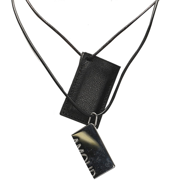 Black Hermes Api Leather Choker