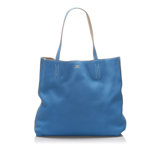 Blue Hermes Double Sens 30 Bag