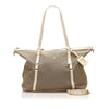 Beige Prada Canapa Canvas Satchel Bag