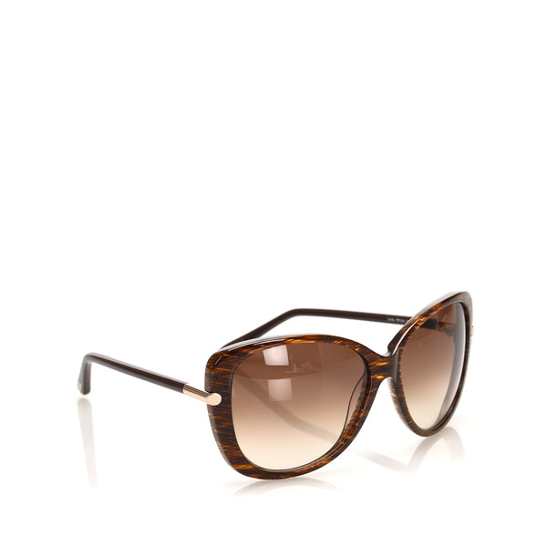 Gold Tom Ford Round Tinted Sunglasses