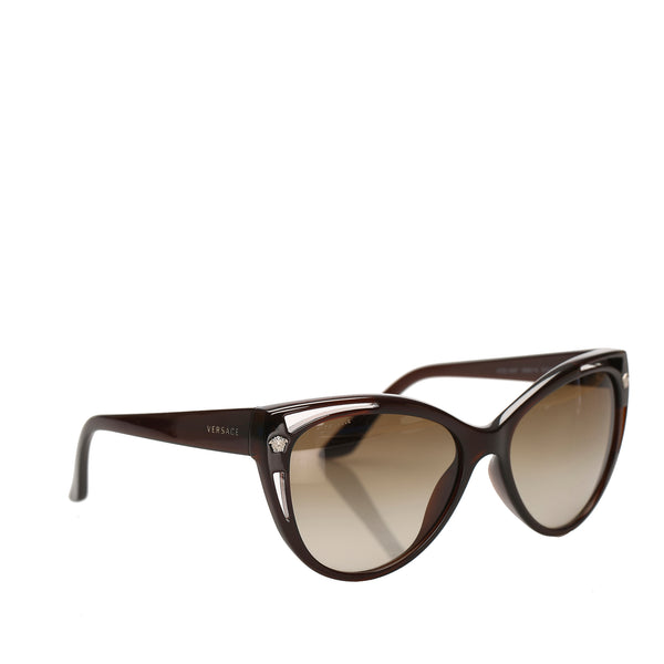 Brown Versace Round Tinted Sunglasses