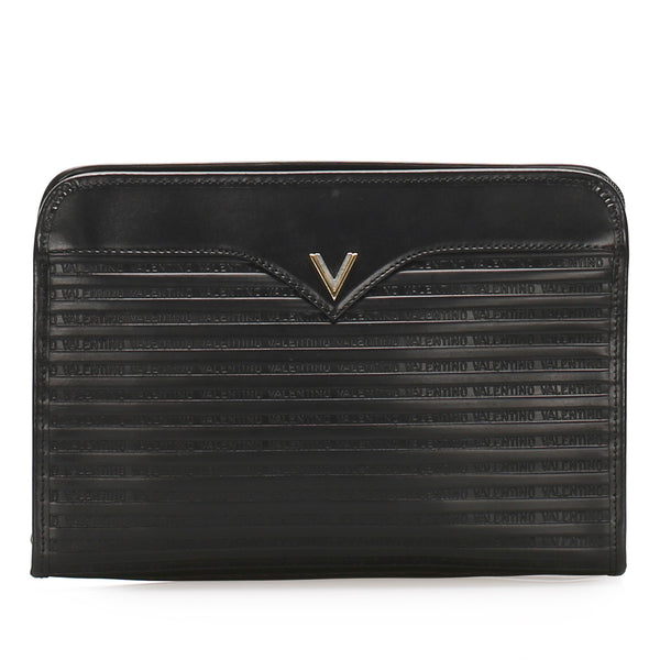 Black Valentino Leather Clutch Bag