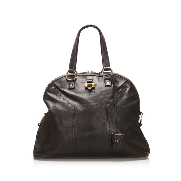 Black YSL Muse Leather Handbag Bag