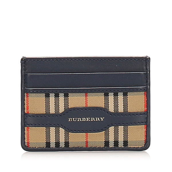 Brown Burberry House Check Canvas Coin Pouch