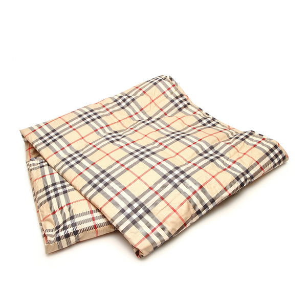 Beige Burberry House Check Cotton Blanket
