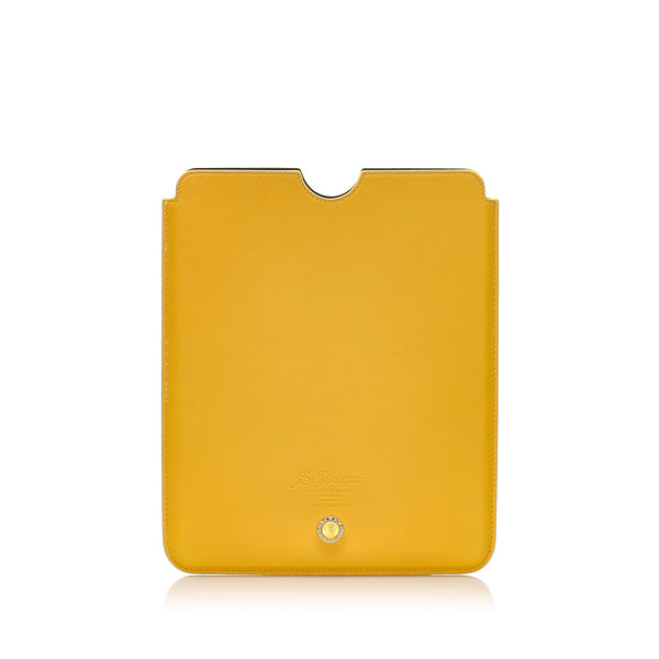 Yellow Bvlgari Leather iPad Case