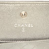 Gold Chanel CC Caviar Leather Wallet