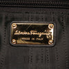 Black Ferragamo Gancini Leather Handbag Bag