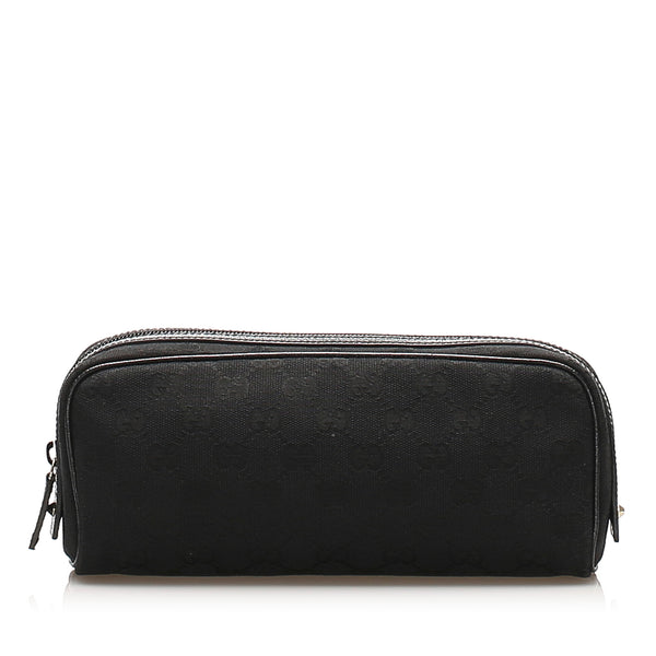 Black Gucci Canvas Pouch