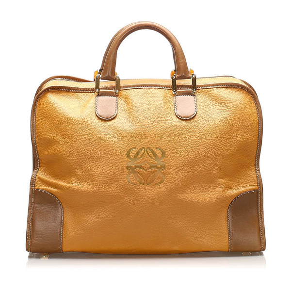 Tan Loewe Amazona Leather Handbag Bag