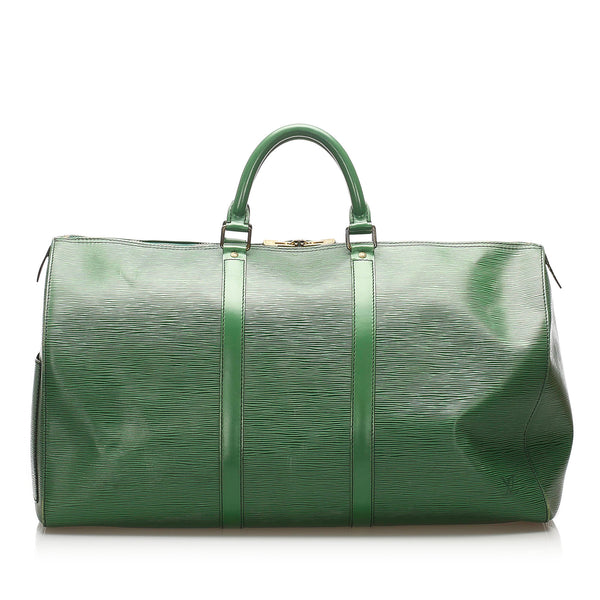 Green Louis Vuitton Epi Keepall 50 Bag