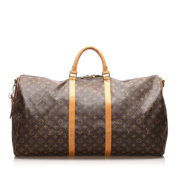 Brown Louis Vuitton Monogram Keepall 60 Bag