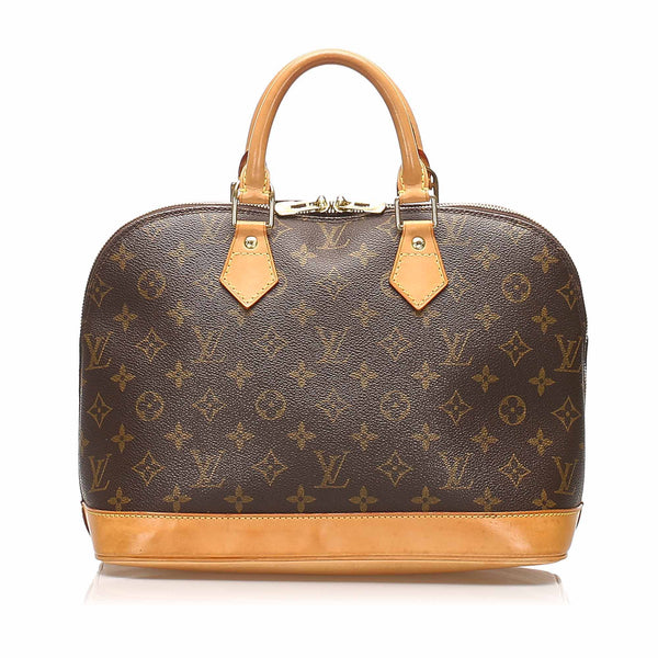 Brown Louis Vuitton Monogram Alma PM Bag