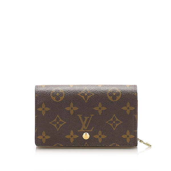 Brown Louis Vuitton Monogram Porte Monnaie Billets Small Wallet