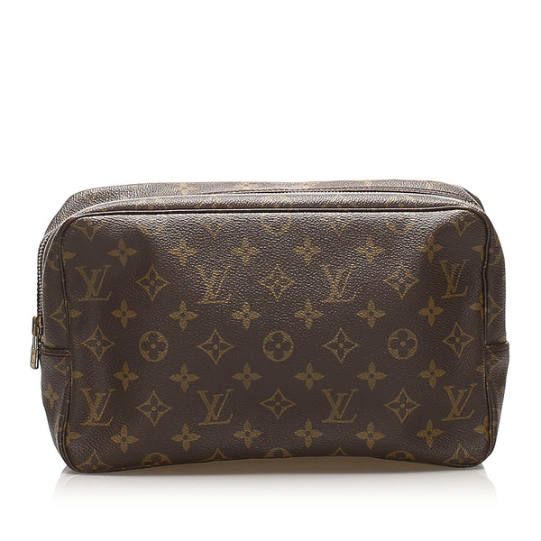 Brown Louis Vuitton Monogram Trousse Toilette 28