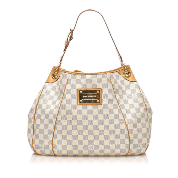 White Louis Vuitton Damier Azur Galliera PM Bag