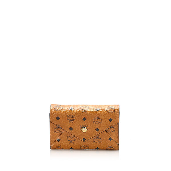 Brown MCM Visetos Leather Wallet