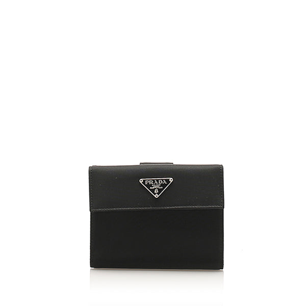Black Prada Tessuto Small Wallet