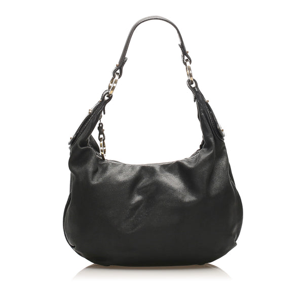 Black Fendi Leather Hobo Bag