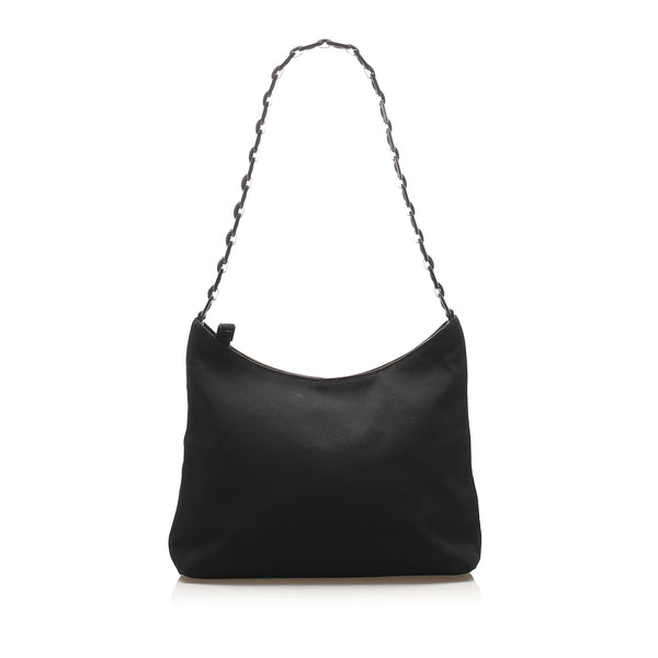Black Ferragamo Vara Nylon Shoulder Bag