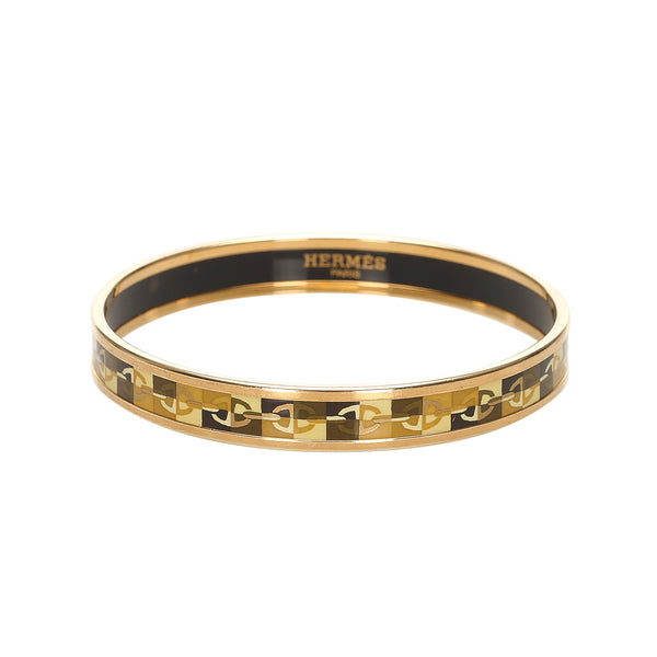 Black Hermes Cloisonne PM Bangle