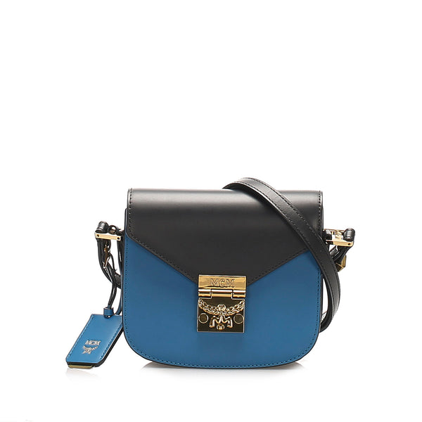 Blue MCM Patricia Leather Crossbody Bag