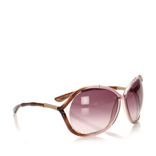 Brown Tom Ford Round Tinted Sunglasses