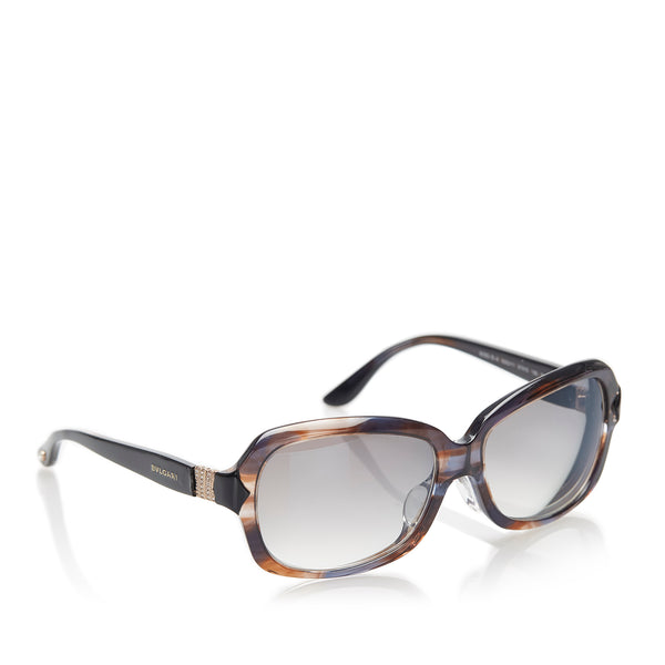 Black Bvlgari Square Tinted Sunglasses