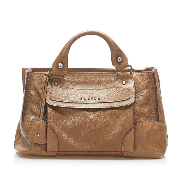 Brown Celine Boogie Leather Handbag Bag