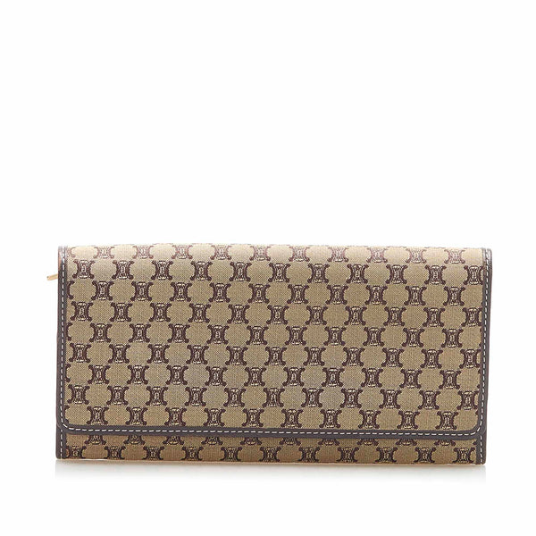 Brown Celine Macadam Canvas Wallet