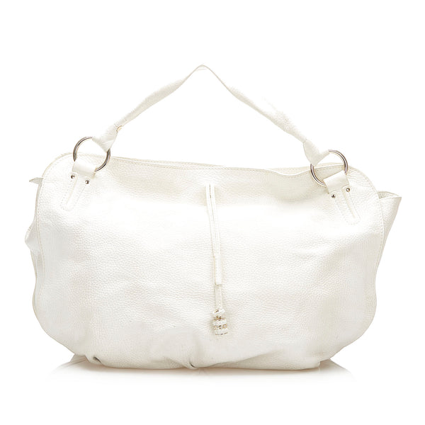 White Celine Bittersweet Leather Handbag Bag