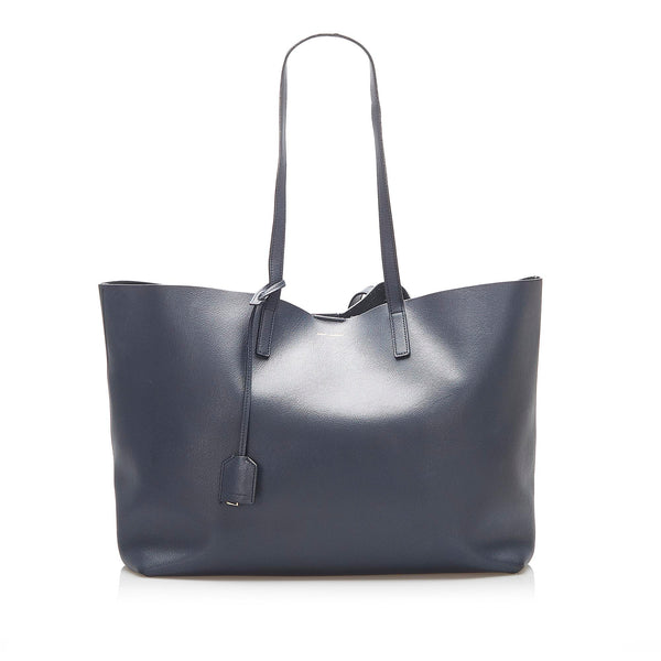 Blue YSL EastWest Leather Tote Bag