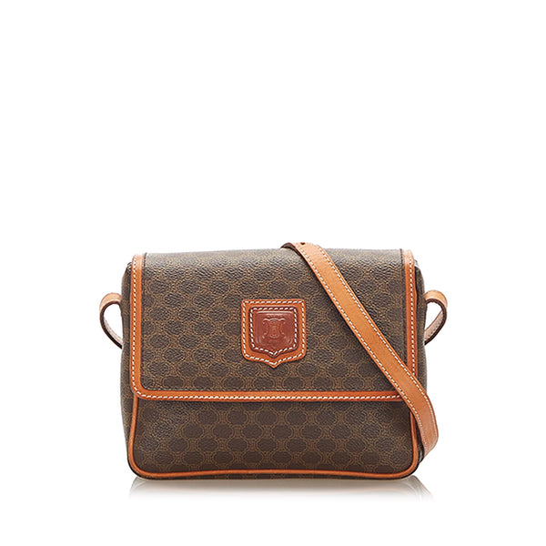 Brown Celine Macadam Crossbody Bag