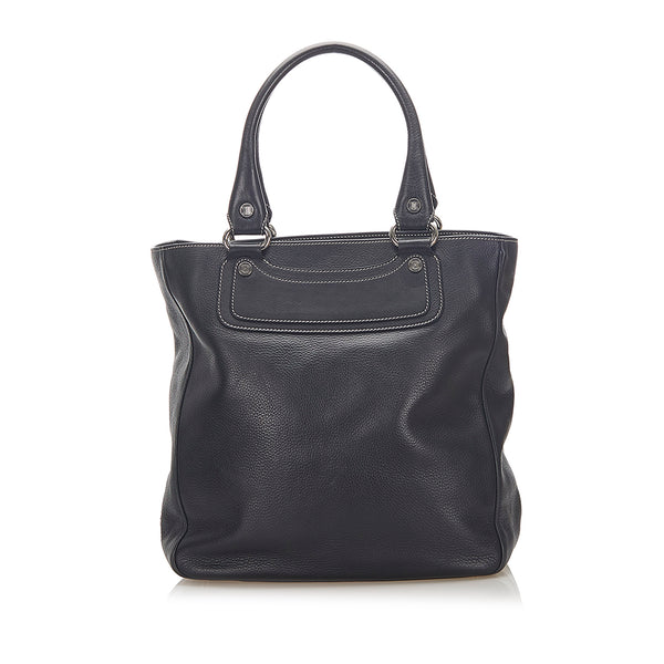 Black Celine Boogie Leather Tote Bag