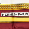 Red Hermes Printed Silk Scarf