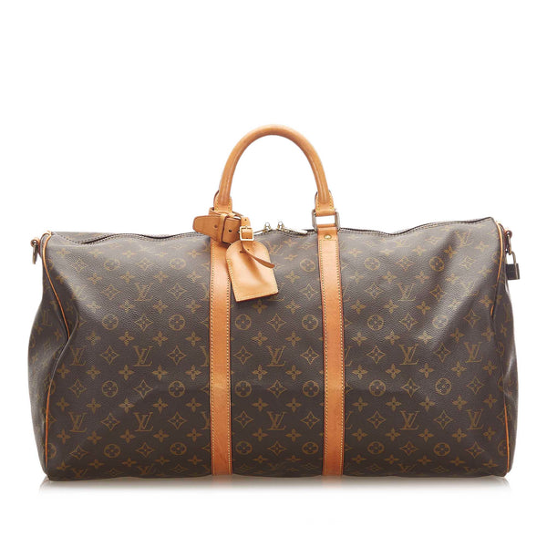 Brown Louis Vuitton Monogram Keepall Bandouliere 55 Bag