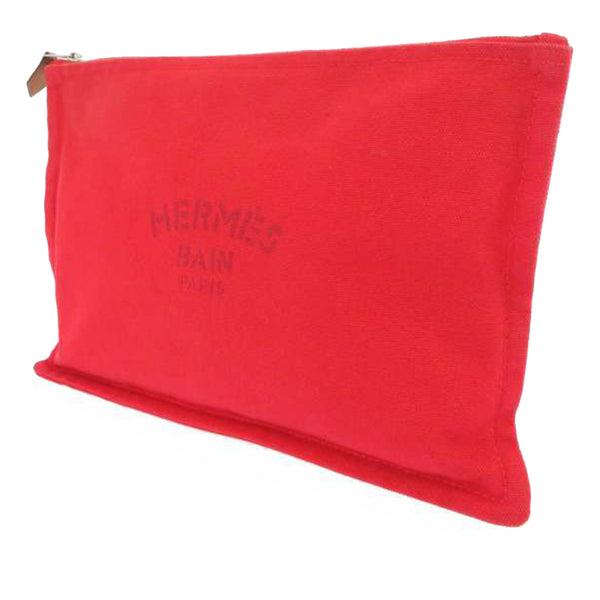 Red Hermes Trousse Flat Yachting GM