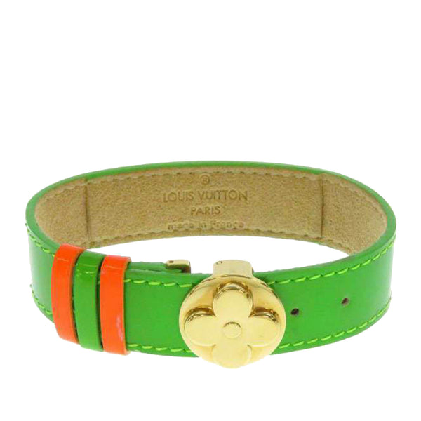 Green Louis Vuitton Monogram Vernis Good Luck Bracelet