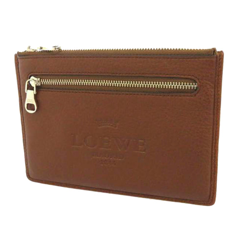 Brown Loewe Leather Card Case