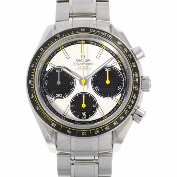 Silver Omega Speedmaster Racing Co-Axial Chronograph Watch
