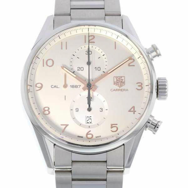 Silver Tag Heuer Carrera Caliber 1887 Watch