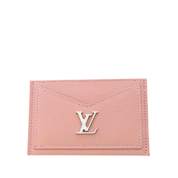 Pink Louis Vuitton Lockme Card Holder
