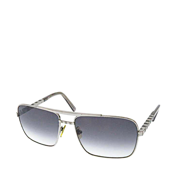 Gray Louis Vuitton Round Tinted Sunglasses