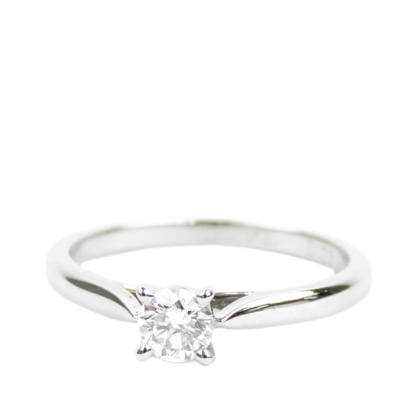 Silver Cartier Diamond 1895 Solitaire Ring