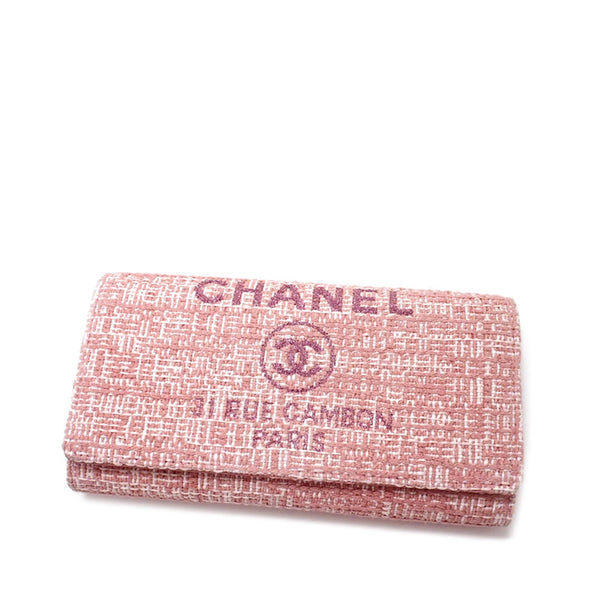 Pink Chanel Deauville Long Wallet