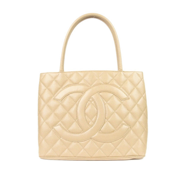 Brown Chanel Caviar Medallion Tote Bag